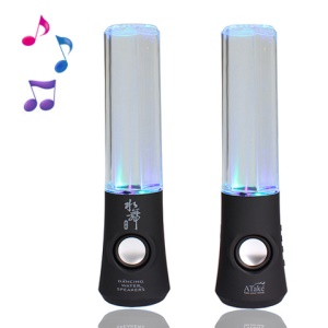 ATake BWD-10TA Colorized Water Dance Fountain Speaker for iPhone iPad iPod PC MP3 MP4 - Black