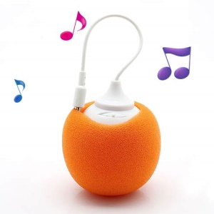 Mini Sponge Balloon Style 3.5mm Audio Jack USB Powered Speaker - Orange