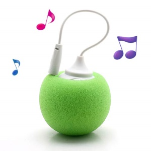 Mini Sponge Balloon Style USB Powered 3.5mm Audio Jack Speaker - Green
