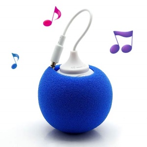 Mini Sponge Balloon Style USB Powered 3.5mm Audio Jack Speaker - Blue
