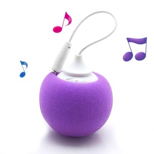 Mini Sponge Balloon Style USB Powered 3.5mm Audio Jack Speaker - Purple
