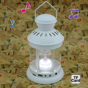 Multi-function Lantern Double Color Flashlight TF Card USB Disk Speaker with Touch Sensor