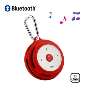 Portable Outdoor Bluetooth Speaker w/ Hook Support TF Card Voice Calls BV200