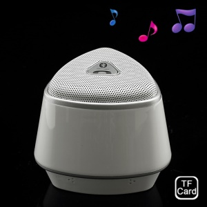 White Mini Wireless Bluetooth Stereo Speaker Parlante Support TF Card Handfree Phone