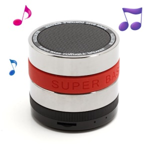 HI-FI Super Bass Bluetooth / TF / Handsfree Phone Intelligent Voice Speaker - Red