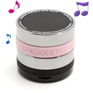 HI-FI Super Bass Bluetooth / TF / Handsfree Phone Intelligent Voice Speaker - Pink