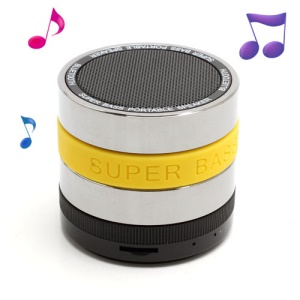 HI-FI Super Bass Bluetooth / TF / Handsfree Phone Intelligent Voice Speaker - Yellow