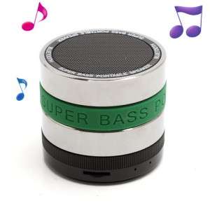 HI-FI Super Bass Bluetooth / TF / Handsfree Phone Intelligent Voice Speaker - Green