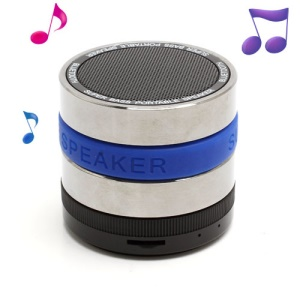HI-FI Super Bass Bluetooth / TF / Handsfree Phone Intelligent Voice Speaker - Blue