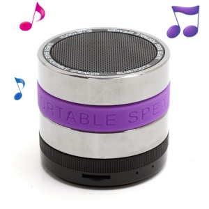 HI-FI Super Bass Bluetooth / TF / Handsfree Phone Intelligent Voice Speaker - Purple