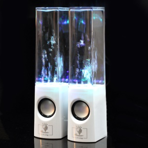 Innovative Water Dancing Speaker for iPhone iPad iPod Mac PC MP3 MP4 - White