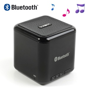 Suicen AX-668 Mini Bluetooth Stereo Speaker w/ Mic for iPhone iPad iPod Cellphones MP3 MP4 Etc - Black