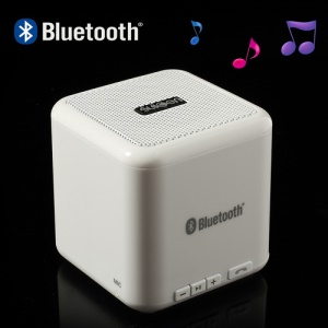 Suicen AX-668 Wireless Bluetooth Speaker w/ Microphone for iPhone iPad iPod Cellphones MP3 MP4 Etc - White