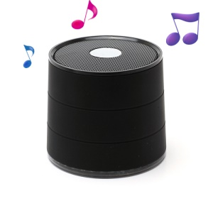 A1022 Mini Wireless Bluetooth Speaker Music Player, Support Handsfree Mic / TF / FM - Black
