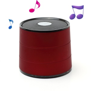 Wireless Bluetooth Mini Speaker Music Player A1022, Support Handsfree Mic / TF / FM - Red