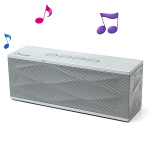 Adix Stereo Bluetooth Speaker with Handsfree Mic/TF Port/FM for iPhone iPad iPod Cellphones, UI-B70 - Silver