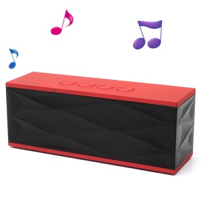 Adix Wireless Bluetooth Speaker with Microphone/TF Port/FM for iPhone iPad iPod Cellphones, UI-B70 - Red