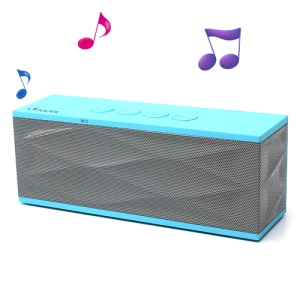 Adix Stereo Wireless Bluetooth Speaker, Support Mic/TF/FM for iPhone iPad iPod Cellphones, UI-B70 - Blue