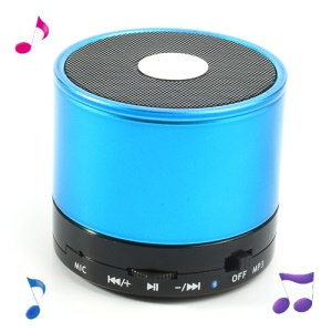 Blue Mini LED Display Wireless Bluetooth Speaker E-717, Support Handsfree Mic / TF / FM