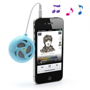 AOPU Whirlwind Portable 3.5MM Audio Stereo Speaker for Mobile Phone Mp3 Mp4 PC etc. - Blue