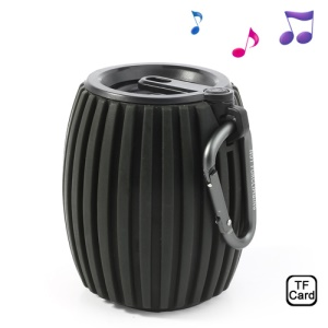 Black Jar Shaped Q8 Wireless Bluetooth Speaker w/ Mic, Support Handsfree Calls / TF Card