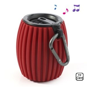 Red Jar Shaped Sports Q8 Wireless Bluetooth Speaker w/ Mic, Support Handsfree Calls / TF Card