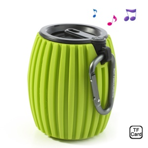 Green Jar Shaped Q8 Wireless Bluetooth Speaker Music Player, Support Handsfree Calls / TF Card
