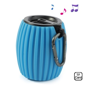 Blue Jar Shaped Q8 Wireless Bluetooth Speaker Music Player, Support Handsfree Calls / TF Card