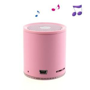 EWA A106 Mini Wireless Bluetooth Audio Speaker w/ TF Card & Hands-free MIC - Pink