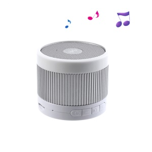 EWA A105 Mini Wireless Bluetooth Speaker with U Disk / TF Card / Hands-free MIC - Silver / White