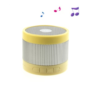 EWA A105 Mini Wireless Bluetooth U Disk / TF Card Hands-free Audio Speaker  - Silver / Yellow