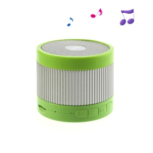 EWA A105 Mini Wireless Bluetooth U Disk / TF Card Hands-free Audio Speaker  - Silver / Green