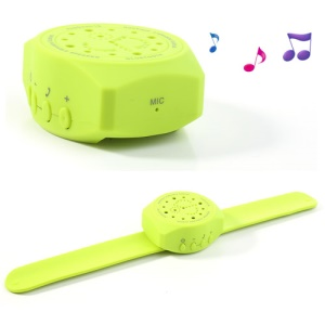 Handfree Bluetooth Speaker Wrist Watch for iPhone iPad Samsung Sony LG Etc - Yellowgreen
