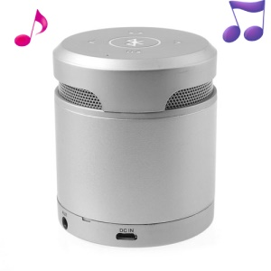 Mini Wireless Bluetooth Speaker Handfree Mic for iPhone iPad Samsung Sony HTC Etc - Silver