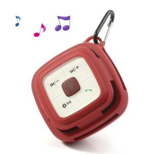 Hi-Rice SD-109 Portable Hi-Fi TF Card Hands-free Bluetooth Speaker for Mobile Phone MP3 PC - Red