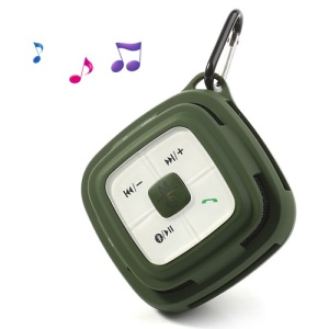 Hi-Rice SD-109 Portable Hi-Fi Bluetooth Speaker w/ TF Card & MIC for Mobile Phone MP3 PC - Army Green