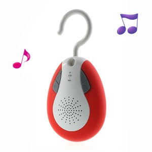 BTS-19 Waterproof Bluetooth Handsfree Wireless FM Radio Speaker w/ Hook - Red