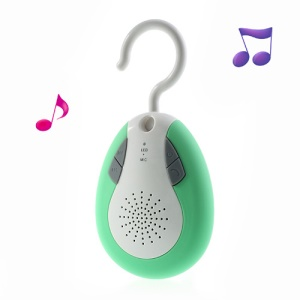 BTS-19 Waterproof Wireless Bluetooth Handsfree FM Radio Speaker w/ Hook - Green