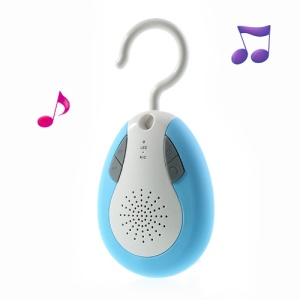 BTS-19 Waterproof Portable Wireless Bluetooth Handsfree FM Radio Speaker w/ Hook - Blue