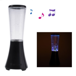 Black Wireless Bluetooth Water Dancing Speaker Support TF Card / USB Flash Driver / AUX-input
