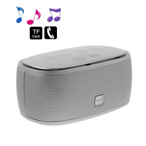 Smart Music 1+1 NFC Bluetooth Speaker 3D Surround Sound Effect - Silver