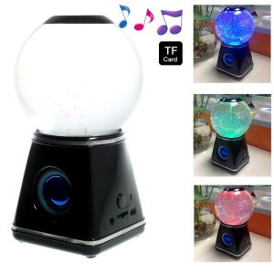 RICHSO YH-201401 Water Ball Colorful Bluetooth Speaker Support TF Card / AUX-input - Black