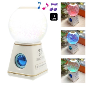 RICHSO YH-201401 Water Ball Colorful Bluetooth Speaker Support TF Card / AUX-input - White