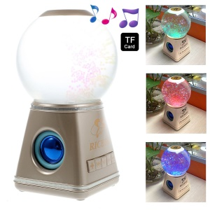 RICHSO YH-201401 Water Ball Colorful Bluetooth Speaker Support TF Card / AUX-input - Champagne