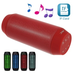 Red AEC BQ-615 Portable Multi-function Bluetooth Speaker with MIC Support FM / TF Card / AUX-input