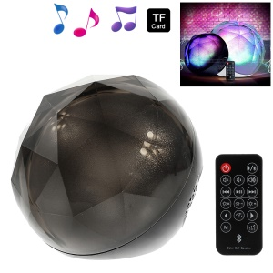 Color Ball LED Flashing Stereo Bluetooth Speaker Supports TF Card / Aux-input with Remote Control - Black