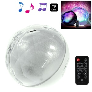 Color Ball LED Flashing Stereo Bluetooth Speaker Supports TF Card / Aux-input with Remote Control - White