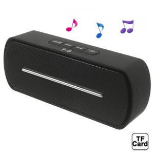 Black Y8 Portable Super Bass Bluetooth Speaker with MIC Support FM / U Disk / TF Card / AUX-input