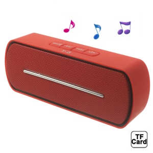 Red Y8 Portable Super Bass Bluetooth Speaker with MIC Support FM / U Disk / TF Card / AUX-input