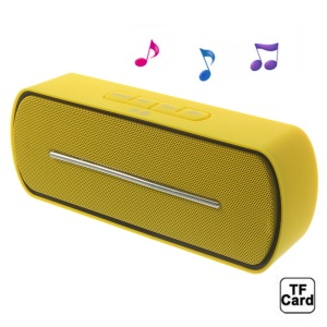 Yellow Y8 Portable Super Bass Bluetooth Speaker with MIC Support FM / U Disk / TF Card / AUX-input